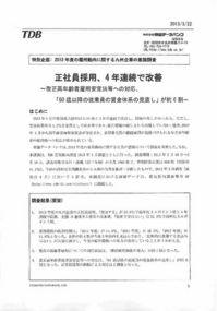 2013年度の雇用動向に関する九州企業の意識調査