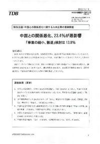 中国との関係悪化に関する九州企業の意識調査