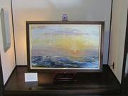 青木繁旧居に展示してある「朝日(絶筆)」の複製画