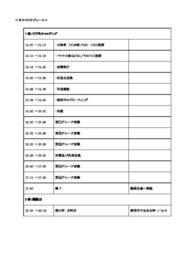 当日スケジュール(予定)